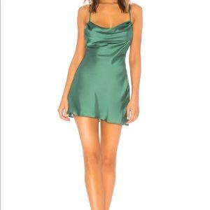 Lovers + Friends Green Boa Mini Dress XS NWT